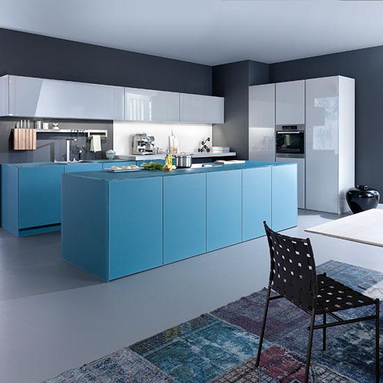 Blue colourful Kitchen