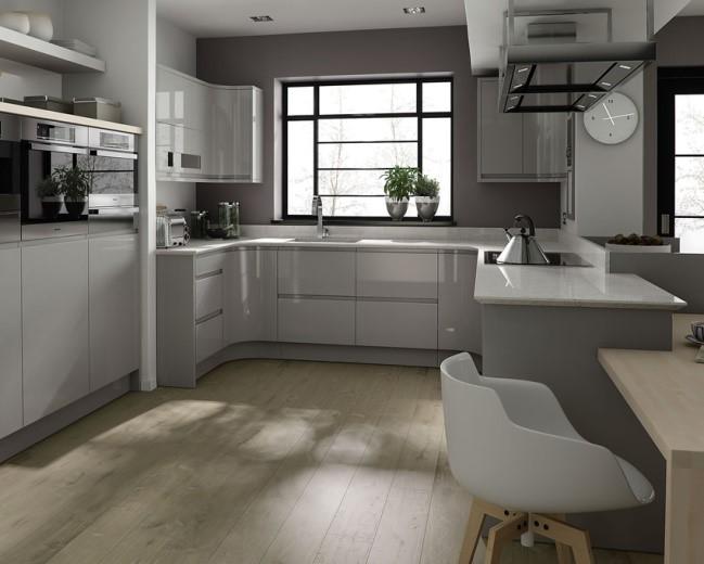 Grey Monochromatic Kitchen