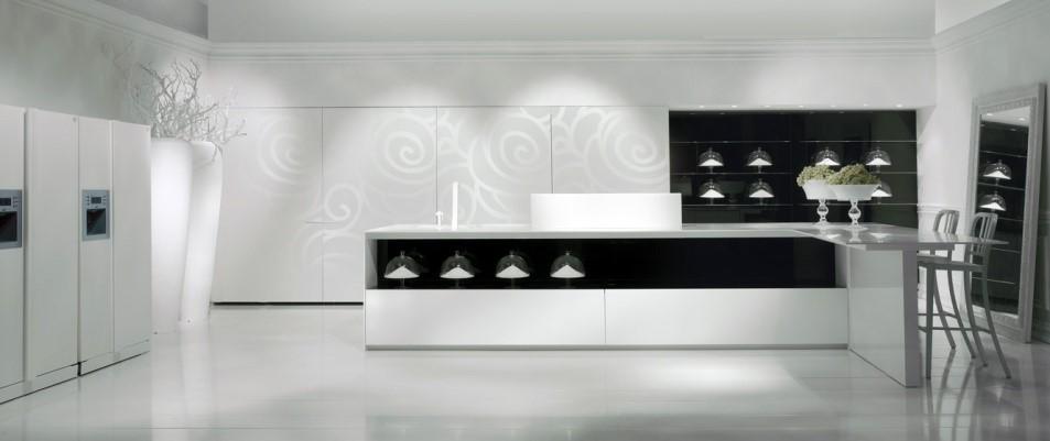 White And Black Bitone Kitchen