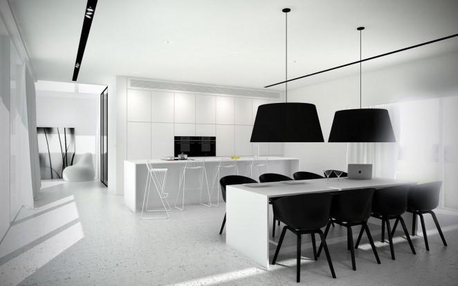 White Monochromatic Kitchen
