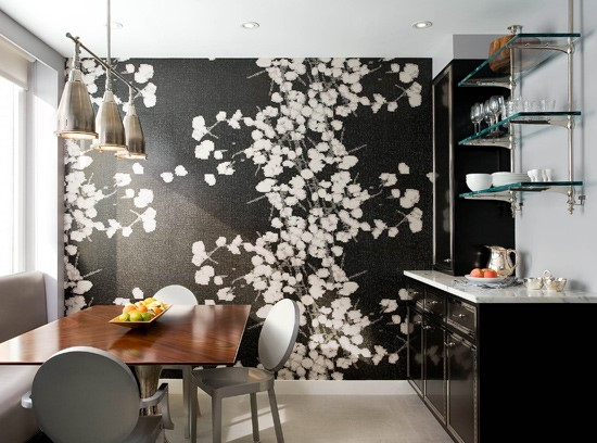 Flower Wallpaper Centrepiece