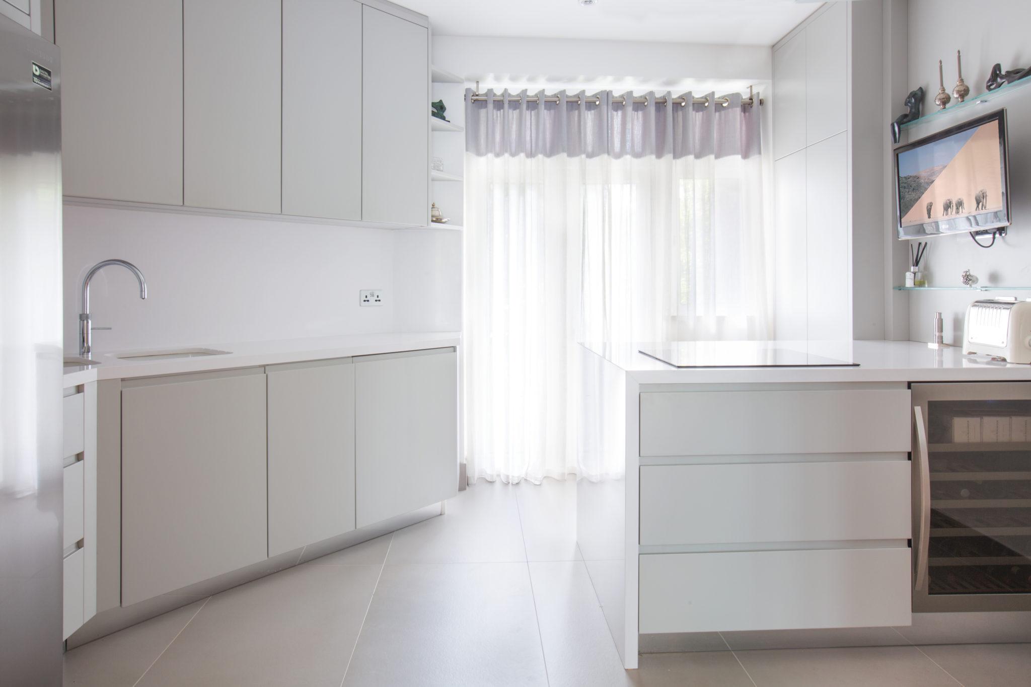 functional white kitchen