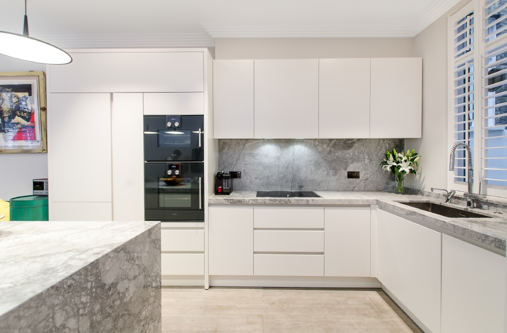 Ample Bespoke Kitchen With Moonstone Island