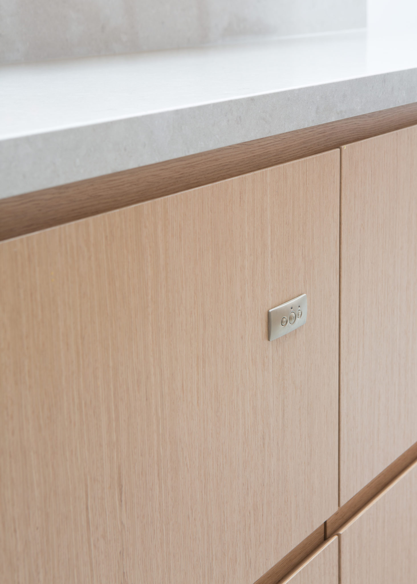 Close-up of kitchen drawers