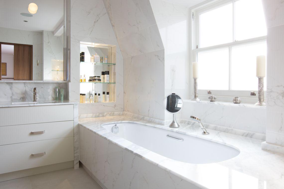 White Bespoke Bathroom