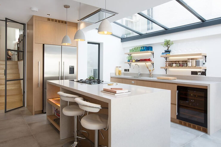 A beautiful kitchen extension