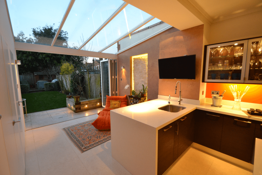 a kitchen extension in Ealing