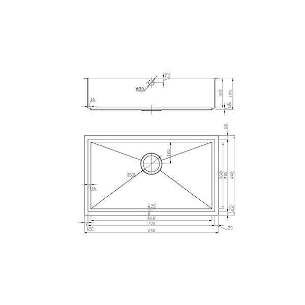 Dimensions of gunmetal sink
